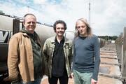 Bänz Oester, Norbert Pfammatter und Hans Feigenwinter (von links) treten in Sarnen auf. (Bild: PD)