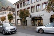 Der Hauptsitz der Urner Kantonalbank in Altdorf. (Bild: Corinne Glanzmann, Altdorf, 18. Oktober 2018)