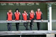 Nationalteam der Seniorinnen: Monika Lutz, Liliane Huwyler, Ursi Miller, Skip Chantal Forrer und Karin Sohmer vertreten die Schweiz an der Curling-WM in Stavanger. (Bild: PD)