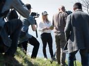 Lara Gut-Behrami hat am Mittwoch oberhalb von Lugano zu einem Medientreffen eingeladen (Bild: KEYSTONE/TI-PRESS/ALESSANDRO CRINARI)