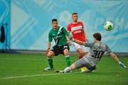 Mit dem Tor zum 3:1 gegen Spartak Moskau stösst Roberto Rodriguez die Tür zur Europa League weit auf. (Bild: Urs Bucher/Moskau, 29. August 2013)