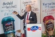 Der CEO von Emmi, Urs Riedener anlaesslich der Jahres-Bilanzmedienkonferenz des Milchverarbeiters Emmi. (Bild: Urs Flüeler/Keystone, Luzern, 28. Februar 2019)