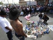 Die Ruhe vor der Massenpanik: An der Totenwache für den ermordeten US-Rapper Nipsey Hussle gab es zahlreiche Verletzte. (Bild: Keystone/FR170512 AP/RINGO H.W. CHIU)