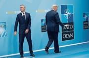 Angespanntes Verhältnis: Nato-Generalsekretär Jens Stoltenberg (links) und US-Präsident Donald Trump. (Bild: Pablo Martinez Monsivais/AP (Brüssel, 11. Juli 2018))