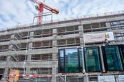 Eine Baustelle des Luzerner Fensterbauers in Aarau. (Bild: PD)