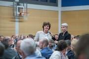 CVP-Nationalrätin Ida Glanzmann ergriff das Wort. (Bild: Pius Amrein, Hildisrieden, 2. April 2019)