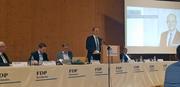 Der neugewählte Fabian Peter spricht an der FDP-Delegiertenversammlung. (Bild: Martina Odermatt, 2. April 2019)