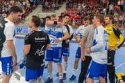 Enttäuscht: Für die Krienser Handballer ist die Saison zu Ende. (Bild: Martin Deuring, Winterthur, 20. April 2019)
