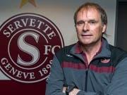 Alain Geiger befindet sich mit Servette auf dem besten Weg in die Super League (Bild: KEYSTONE/MARTIAL TREZZINI)