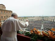 Papst Franziskus spendet zu Ostern den Segen «Urbi et Orbi». (Bild: Keystone/EPA/VATICAN MEDIA / HANDOUT)