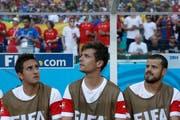 An der WM 2014 sitzt Barnetta nur auf der Bank. (Bild: Peter Klaunzer/Keystone)