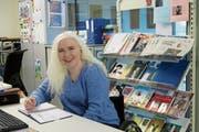 Die Urnerin Sandra Sucic bereitet sich aktuell an der ParaSchool am Schweizer Paraplegiker-Zentrum in Nottwil auf ihr Studium vor. (Bild: Brigitte Hächler (Nottwil, April 2019))