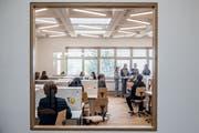 Auch die Schulräume kommen neuzeitlich daher. (Bild: Nadia Schärli, Hergiswil, 18. April 2019)