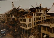 Die Zerstörungskraft des Feuers war immens. (Bild: Toggenburger Museum, Lichtensteig)