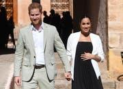 Prinz Harry and Meghan, auf Besuch in Marokko im Februar 2019. (Facundo Arrizabalaga/Pool Photo via AP, File)