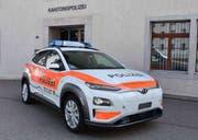 Die Kantonspolizei St.Gallen ist künftig auch mit Elektroautos unterwegs. (Bild: Kapo SG)