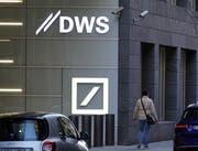Büros der Vermögensverwaltungseinheit DWS der Deutschen Bank in Frankfurt. Bild: Mauritz Antin/EPA (18. April 2019)