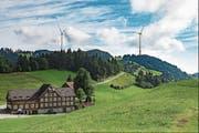 Nach dem Nein der Standeskommission kann der Windpark nicht gebaut werden. (Bild: Visualisierung: PD)