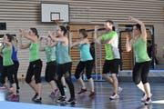 Seit mehr als einem Jahr trainiert die Rheintaler Gruppe «Swiss Fantasy» für ihren Gymnaestrada-Auftritt. (Bild: ys)