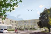 So soll das Pflegezentrum Lippenrüti in Neuenkirch aussehen. (Visualisierung: GKS Architekten Generalplaner AG)