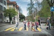 Gerade für Schulkinder ist die St.-Georgen-Strasse gemäss einem Gutachten der Stadt eine Herausforderung. (Bild: Bilder: Ralph Ribi)