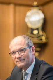 Landammann Daniel Fässler in der Ratskanzlei in Appenzell. (Bild: Hanspeter Schiess)