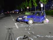 Die Unfallstelle befindet sich in der Nähe einer Kreuzung. (Bild: Polizei Duisburg)