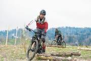 Stefan Peter auf dem Bikeparcours, der am 5. Mai offiziell eröffnet wird. (Bild: PD (Giswil, 7. April 2019))
