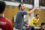 Coacht morgen Abend den KTV Altdorf zum letzten Mal in der heimischen Feldli-Arena: der scheidende Trainer Sebastian Munzert. Bild: Urs Hanhart (Altdorf, 5. September 2018)