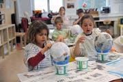 In Andermatt gehen auch Kinder anderer Gemeinden in die Schule. (Bild: Urs Hanhart, 11. April 2019)