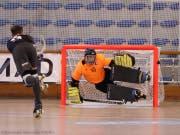 Der Uri-Keeper Marc Blöchlinger bestritt mit der Schweizer Nationalmannschaft den «Coupe des Nations» in Montreux. (Bild: Gordon Morrison)