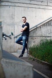 Fidan Tafa (beim Sportpark Rotkreuz) ist glücklich beim FCR. (Bild: Stefan Kaiser, 25. April 2019)