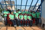 Das Team der Spitex AachThurLand mit Präsident Jürg Peter. (Bild: Monika Wick)