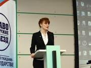 18 Monate Haft in den USA: Die russische Waffenrechtsaktivistin Maria Butina hat versucht, die US-Waffenlobby zu infiltrieren. Das Bild zeigt sie an einem Waffenrechts-Anlass in Moskau 2012. (Bild: KEYSTONE/EPA CIVIC CHAMBER OF THE RUSSIAN FEDERATION/HANDOUT)