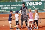 Muriel Mattle bringt nicht nur Kindern Tennis bei: Sie will sich auch persönlich weiterhin verbessern. (Bild: Andrea Kobler)