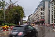 Nach dem Ausbau wird das UG 25 am Unteren Graben das grösste Parkhaus der Stadt St.Gallen sein. (Bild: Benjamin Manser/26. April 2019)