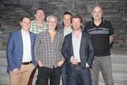 Der Vorstand von Gewerbe Sirnach mit: Adrian Winkler, Stefan Bissegger, Rolf Tiefenthaler, Martin Storchenegger, Markus Kopp und Peter Mesmer. (Bild: ZVG)