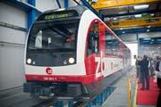 """Das Modell """"Fink"""" der Zentralbahn-Flotte. (Bild: KEYSTONE/Ennio Leanza)"""