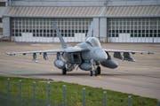 Super Hornet gestern nach der Landung in Payerne. (Bild: VBS/DDPS)
