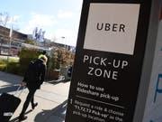 Bei einem der weltweit grössten Börsengänge seit Jahren strebt der Fahrdienstvermittler Uber eine Bewertung von bis zu 91,5 Milliarden Dollar an. (Bild: KEYSTONE/EPA AAP/JOE CASTRO)