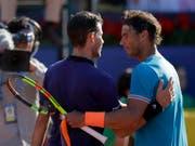 Der Sandkönig Rafael Nadal (rechts) muss Dominic Thiem zum Sieg gratulieren. (Bild: KEYSTONE/AP/MANU FERNANDEZ)