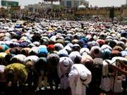 Die anhaltenden Proteste im Sudan haben ihre Wirkung nicht verfehlt - die Gespräche zur Bildung einer zivilen Regierung schreiten voran. (Bild: KEYSTONE/EPA/STRINGER)