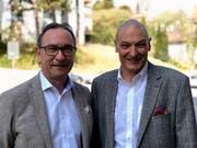 Walter Kunz und Roland Schmid vom Schweizer Reise-Verband (SRV). (Bild: PD)