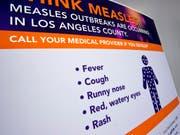 Wegen einer möglichen Ansteckung mit Masern stehen Hunderte Studenten in Los Angeles unter Quarantäne. (Bild: KEYSTONE/AP/DAMIAN DOVARGANES)