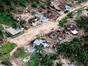 Der Zyklon «Kenneth» hat auf der Insel Ibo in Mosambik viele Häuser zerstört. (Bild: KEYSTONE/AP OCHA/SAVIANO ABREU)