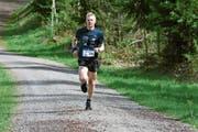 Am Samstagnachmittag auf dem Weg zum Streckenrekord: Patrik Wägeli am Steckborner Berglauf. (Bild: Thomas Güntert)