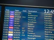 Piloten-Streik: Hunderte von SAS-Flügen werden wie schon in den vergangenen Tagen auch am heutigen Sonntag gestrichen. (Bild: KEYSTONE/AP NTB Scanpix/OLE BERG-RUSTEN)