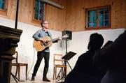 Auch alleine ein Genuss: Markus Schönholzer fesselte das Publikum. (Bild: Bianca Helbling)
