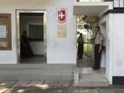 Zwei Polizisten des Fedpol sollen die Botschaft in Colombo bei der polizeilichen Arbeit unterstützen. (Bild: Keystone/ANTHONY ANEX)