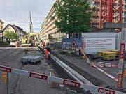 Die Arbeiten an der Kirchstrasse sind fast abgeschlossen. (Bild: Roger Häni)